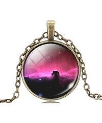 Lesara Halskette mit Weltraum-Amulett - Violett