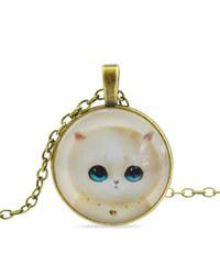 Lesara Halskette mit Katzen-Amulett - Weiß