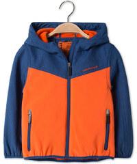 C&A Softsjacke mit Kapuze in Orange / Blau