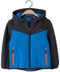 C&A Softsjacke mit Kapuze in Blau / Grau