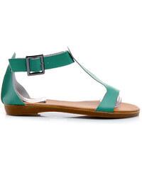 CNB Bezchybné zelené sandály