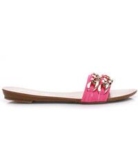 La Bella shoes Nádherné růžové nazouváky