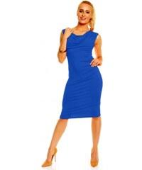 cbf9c7b590b9 Dámské společenské šaty bez rukávu Izabela modré Lental