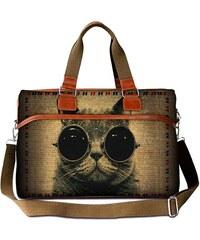Huado cestovní taška 36L - Kočka s brýlemi
