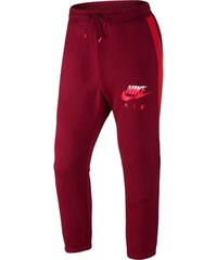 NIKE stylové teplákové AW77 FLC CUFF PANT-HYB - Červené 678530-677