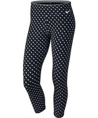 NIKE bavlněné stylové legíny CLUB LEGGING-CROP AOP2 - 725796-010