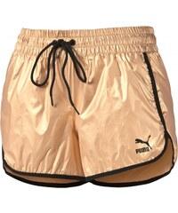 PUMA značkové sportovní Gold Shorts pale gold Zlaté 570388-16