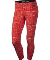 NIKE stylové legíny LEG-A-SEE-CROPPED AOP - Červené 777558-696