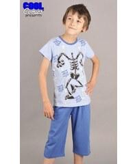 Cool Comics Dětské pyžamo kapri Kostra - modrá