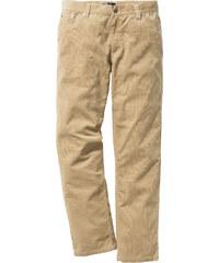 bpc bonprix collection Pantalon velours côtelé Regular Fit Straight, N. beige homme - bonprix