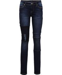 RAINBOW Skinny Jeans mit Patch und Teilungsnähten in blau für Damen von bonprix