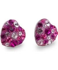 Naušnice GLUGIS - pecky s růžovými kamínky