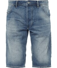 Diesel Regular Fit Double Stone Washed Jeansbermudas