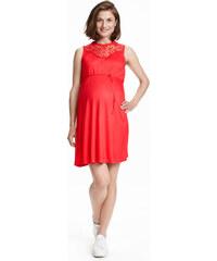 H&M MAMA Žerzejové šaty s krajkou