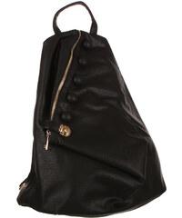 TopMode Koženkový asymetrický batoh černá