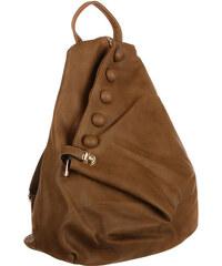 TopMode Koženkový asymetrický batoh tmavě béžová