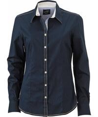 Dámská košile Casual - Tmavě modrá a bílá XS