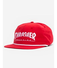 Thrasher Rope Snapback Red White