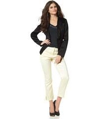 Kalhoty 7/8 délky ze strečového saténu, BRUNO BANANI 32 režná (ecru)