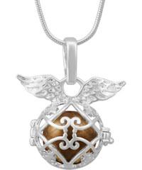 Lesara Engelsflüsterer-Halskette mit Flügelchen - Gold
