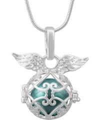 Lesara Engelsflüsterer-Halskette mit Flügelchen - Mint