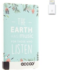 Accoo Earth is Music - Chargeur Nomade pour Smartphones - bleu clair