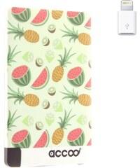 Accoo Salade de fruit - Chargeur Nomade pour Smartphones - vert