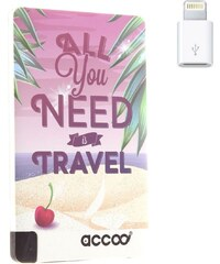 Accoo Travel - Chargeur Nomade pour Smartphones - rose