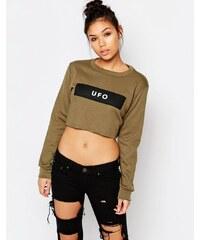Adolescent Clothing - UFO - Sweat court à imprimé - Vert