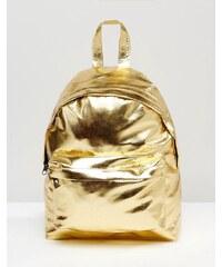ASOS - Petit sac à dos avec effet métallisé - Doré