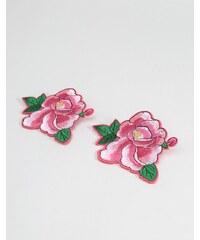 ASOS - Lot de 2 écussons motif rose - Rose