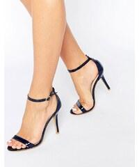 Glamorous - Sandales vernies en deux parties à talons - Bleu marine - Bleu marine