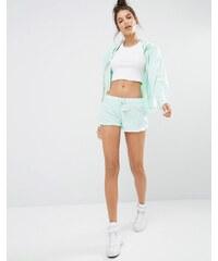 Ocean Drive - Shorts mit Quasten und Batikprint - Grün