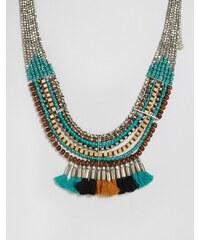Pieces - Benua - Halskette mit Quastenanhänger - Mehrfarbig