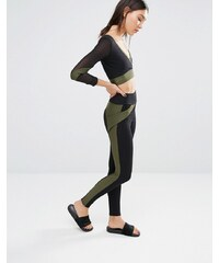 Quontum - Legging à rayures sur les côtés - Vert