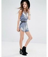 Rokoko - Shorts mit Spitzenapplikation - Kombiteil - Blau