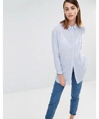 Selected - Crissie - Chemise rayée à manches longues - Bleu