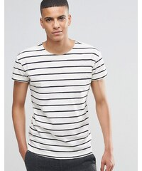 Selected Homme - T-shirt rayé - Blanc