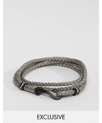 Seven London - Bracelet avec crochet - Gris - Exclusivité ASOS - Gris