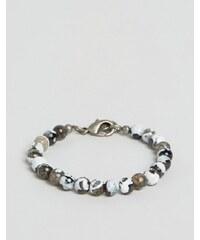 Seven London Simon Carter - Bracelet de perles marbrées exclusivité ASOS - Multi
