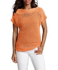 EDDIE BAUER Damen Eddie Bauer Lochstrick-Pullover orange L (42/44),M (38/40),XS (32)