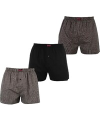 Boxerky Lee Cooper 3 Pack Woven Boxers pán.