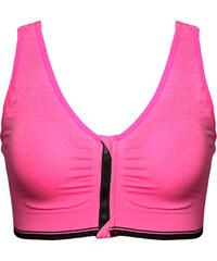 Lesara Sport-BH mit Reißverschluss - Pink - S