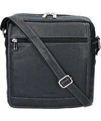 Pánská kožená taška na doklady Delami 751 - černá