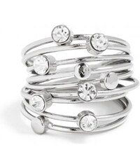 GUESS GUESS Silver-Tone Thin Stacked Ring Set - silver
