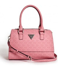 GUESS GUESS Swoon Logo Box Satchel - coral