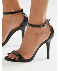 Glamorous - Sandales vernies en deux parties à talons - Noir - Noir