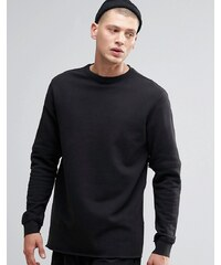 Maharishi - Sweatshirt mit Rundhalsausschnitt und Reißverschluss - Schwarz