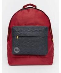 Mi-Pac - Satin-Rucksack mit Netzstoff - Rot