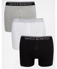 Saville Row Savile Row - Lot de 3 boxers - Noir